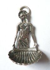 Petit bénitier en argent miniature  19e siècle  Christ Saint silver holly