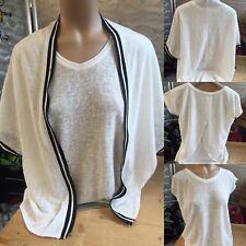 Review Twinset Lagenlook Gr 164/170 L Schwarz Weiß Jacke & Shirt 1A Zustand