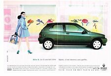 PUBLICITE ADVERTISING  1992   RENAULT  CLIO S  (2 pages)