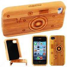Accessoires Coque Housse Rigide Bois Bambou Appareil Photo Camera iPhone 4 4S