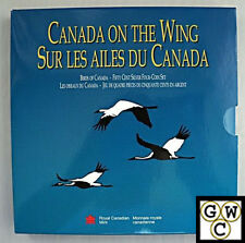 1995 Canada on the Wing - Puffin/Whooping Crane-50 Cent Silver 2-coin set (OOAK)