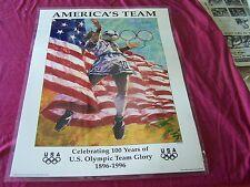 "Laminated-1995 USA OLYMPIC SOCCER poster, "" AMERICA's TEAM""/Aldo Luongo Art"