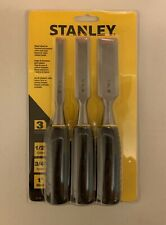 Stanley 3 Piece Wood Chisel Set New