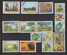 Animaux années 70/80 MONGOLIE 15 timbres oblitérés  / T1435