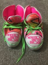 New Kids On The block Slippers Nkotb Vintage 80s Neon Hightops