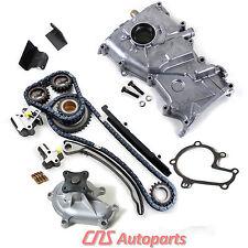 Timing Cover Chain Kit Water & Oil Pump for 93-97 Nissan Altima 2.4L DOHC KA24DE