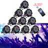 36 LEDs 10PCS Stage Lighting 80W RGB DMX512 Par Can Fixture Disco Party Wedding