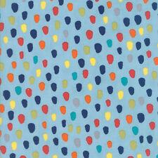 Abi Hall Hello World Specks Sky Blue 35303 17 Moda Quilting Cotton Fabric