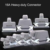 HDC Heavy Duty Connector Industrial Waterproof Aviation Plugs Sockets 16A 6P-48P