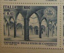 2000  Italia singolo Università  Camerino   800 lire  MNh**