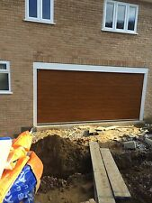FULLY FITTED GARADOR HORMANN SECTIONAL GARAGE DOOR M RIBBED 14ft Wide 4267mm