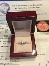 AIG Diamond Nexus Gem Engagement Ring 2.04 Carat Man Made Diamond,Beautiful