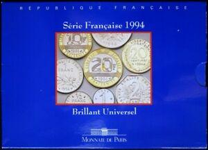 F5200.13 - COFFRET BU - FRANCS - 1994 - 1 centime à 20 francs
