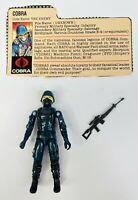 1982 GI JOE Cobra THE ENEMY Straight Arm 100% COMPLETE! (New O Ring)