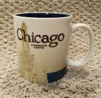 Starbucks Chicago Skyline 2012 16 fl oz Coffee Mug Collector Series Global Icon