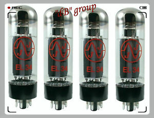 4x EL34 JJ-Electronic Röhre Pro match, Quad NEU - tube amp neue MATCHED