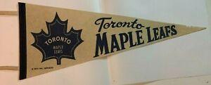 Vintage 1969 Toronto Maple Leafs Full Size Felt Pennant NHL