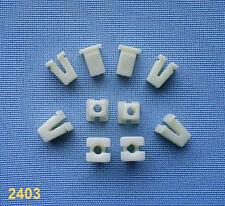 (2403) 10x Verkleidung Clips Befestigung Klips Halter Clip weiß Universal für vw
