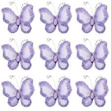 Papillon mauve décoration de table salle mariage baptême fêtes lot 10pcs