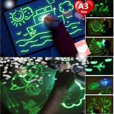 Magic Drawing Board Glow Painting Writing Tablet with Light Fun Develop A3 Size