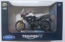 WELLY TRIUMPH TIGER 800 1:18 DIE CAST MODEL NEW IN BOX LICENSED MOTORCYCLE