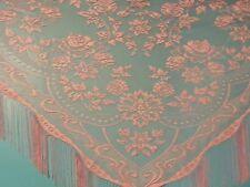 Pink Lace Victorian Design Shawl/Mantilla.