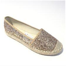GOLD Glitter Espadrillas Scarpe Donna Women's Footwear Scarpe Spiaggia Donna