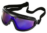 Black/Blue Mirrored Tactical Airsoft Safety Goggles