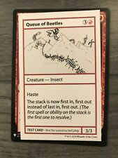 Mtg 1x Queue of Beetles Play Test Playtest Card Mystery Booster Nm/Nm-