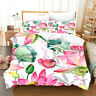Lotus Dragonfly Doona Quilt Duvet Cover Set Single/Double/Queen/King Size Bed