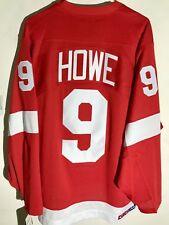 CCM Ribbed Knit LS NHL Jersey Detroit Redwings Gordie Howe Red sz 3X