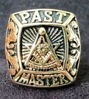 Past Master Masonic Ring Freemason Jewelry Size 8 3/4 Steel Color Gold