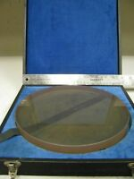"Abralap 10"" x 1 3/4"" Optical Flat - with felt lined case ET48"