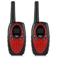 Excelvan 8 Canal Par de walkie-talkie UHF 400-470 MHZ 2-Via Radio 3KM alcan F3B9
