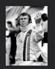 Steve McQueen giving the Two Finger Salute In The Movie Le Mans Rare!Car Poster!
