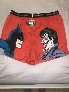 Peter Alexander Boxer Shorts L SUPERMAN Joker Pyjamas New Size L BNWT