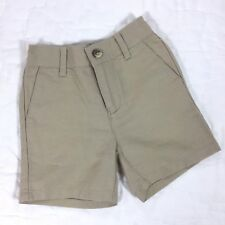 JANIE AND JACK Baby Boys Khaki Shorts Size 3-6 Months Linen Cotton EUC