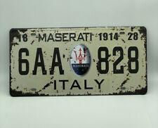 License Plate with Maserati Logo