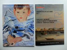 2 catalogues mobiliers, objets d'art XVIIIème, XIXème et XXème siècle..