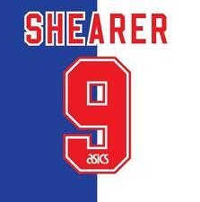 N. 9 Shearer Blackburn ROVER HOME 1995-1996 CALCIO NAMESET per Camicia