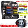 6 Way Blade Fuse Box & Distribution Bar Bus Boat Car Kit Marine Holder 12V 32V