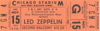 LED ZEPPELIN 1980 IN THROUGH THE OUT DOOR TOUR UMUSED TICKET No. 2 / NMT 2 MINT