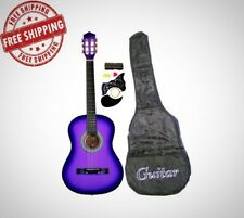 Acoustic Guitar Starters Beginner Package Guitars Gig Bag Strap Pitch Pipe Tuner