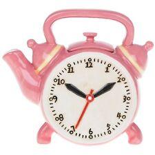 Retro collection rose théière horloge thé vintage fantaisie en céramique ornement cadeau
