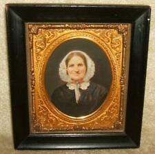 Late 1800's Framed Hand Painted or Colored Portrait of Woman Signed Lit Brothers