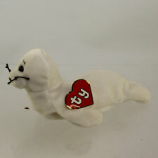 TY Beanie Baby - SEAMORE the Seal (1st Gen Hang Tag - Creased Tag)