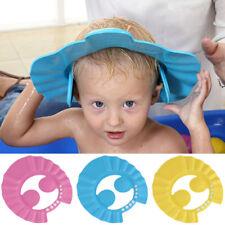 Baby Kids Shampoo Bath Bathing Shower Cap Hat Wash Hair Shield Adjustable Blue