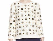 Diane von Fürstenberg Luna Embellished Silk Blend Crepe Top