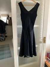 PHASE EIGHT BLACK LONG SILK DRESS SIZE UK 10 IN NICE CONDITION