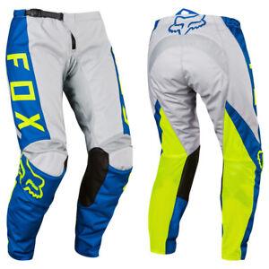 FOX RACING 180 WOMENS WMN MOTOCROSS MX BIKE PANTS - GREY / BLUE